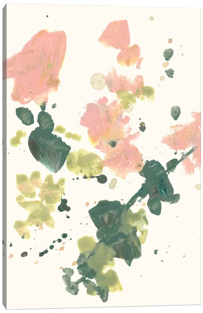 Blush & Olive Splash I Canvas Art Print