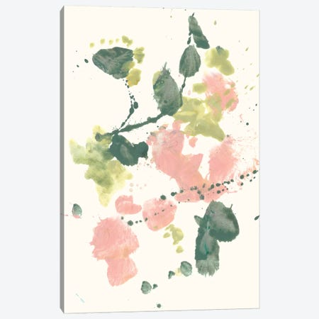 Blush & Olive Splash II Canvas Print #JGO723} by Jennifer Goldberger Canvas Wall Art