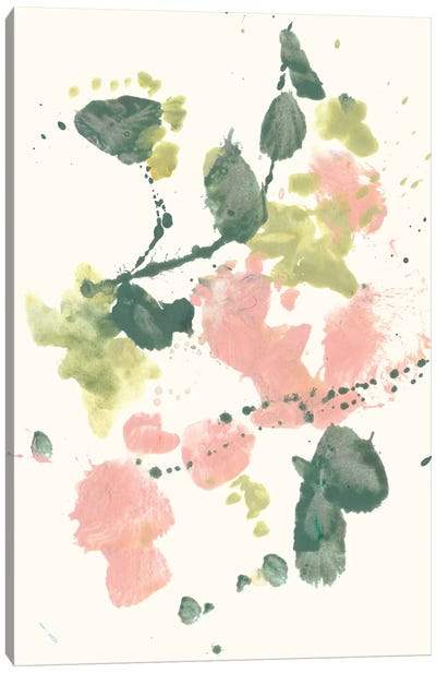 Blush & Olive Splash II Canvas Art Print