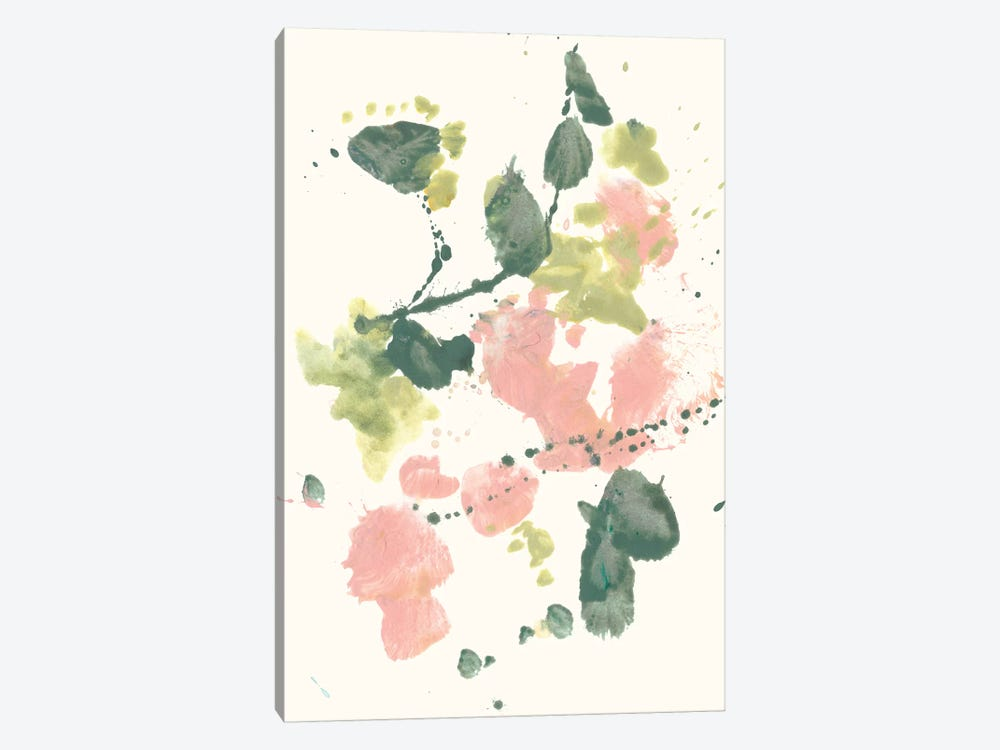 Blush & Olive Splash II by Jennifer Goldberger 1-piece Canvas Artwork