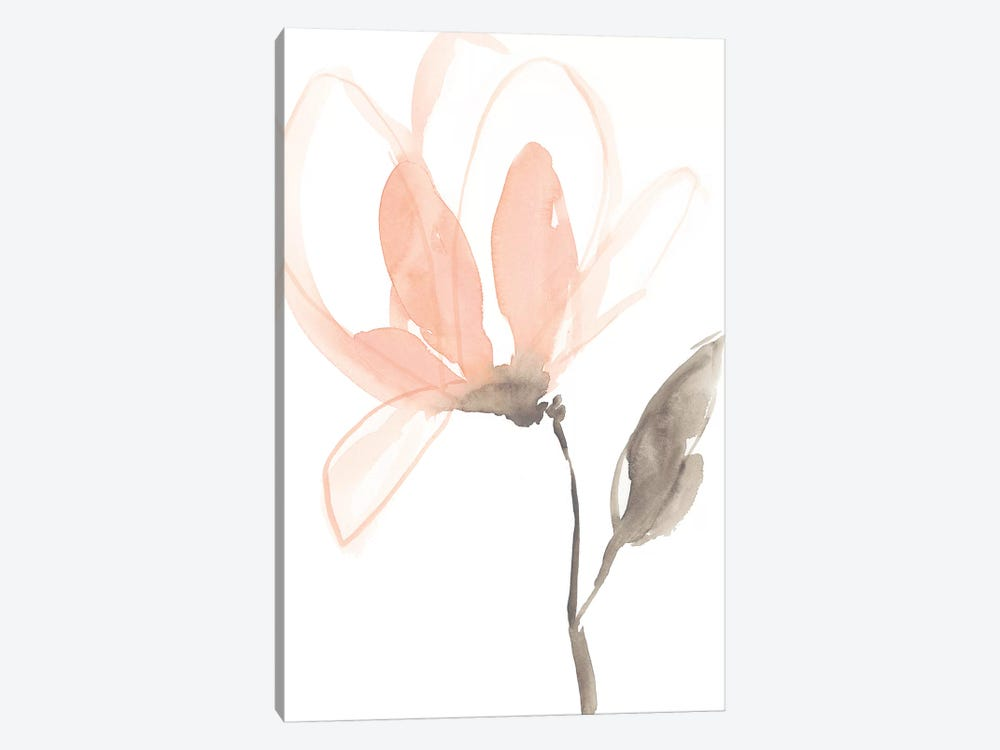 Blush Petals I by Jennifer Goldberger 1-piece Canvas Print