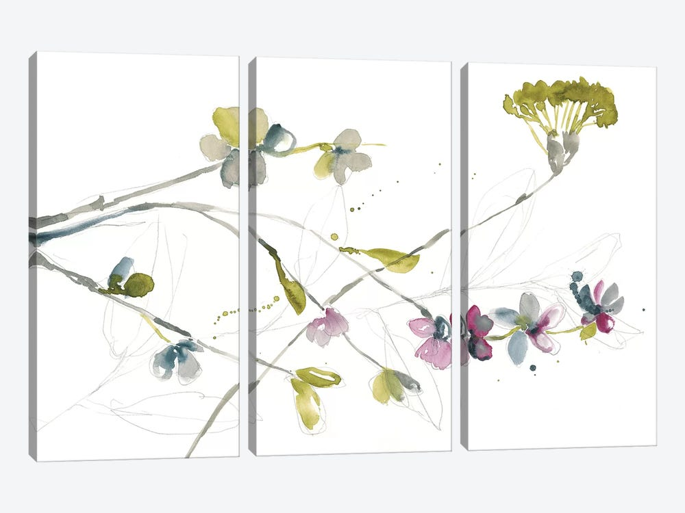 Branches & Blossoms I by Jennifer Goldberger 3-piece Canvas Art Print