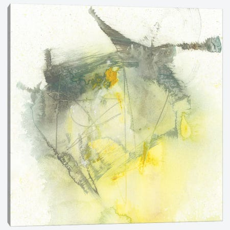 Citron Twist I 3-Piece Canvas #JGO730} by Jennifer Goldberger Canvas Print