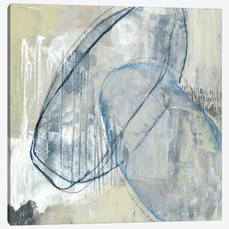 Cool Neutral Loops I Canvas Print #JGO740} by Jennifer Goldberger Canvas Art