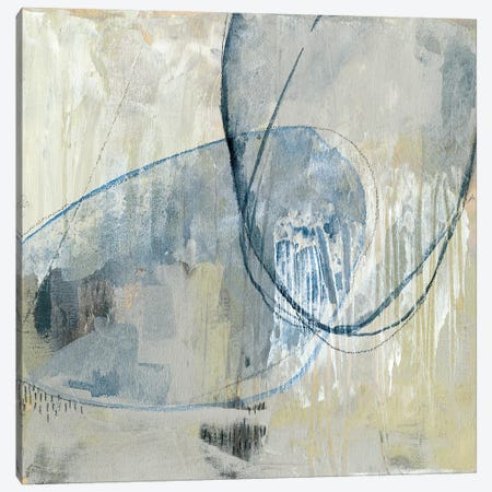 Cool Neutral Loops II Canvas Print #JGO741} by Jennifer Goldberger Canvas Artwork