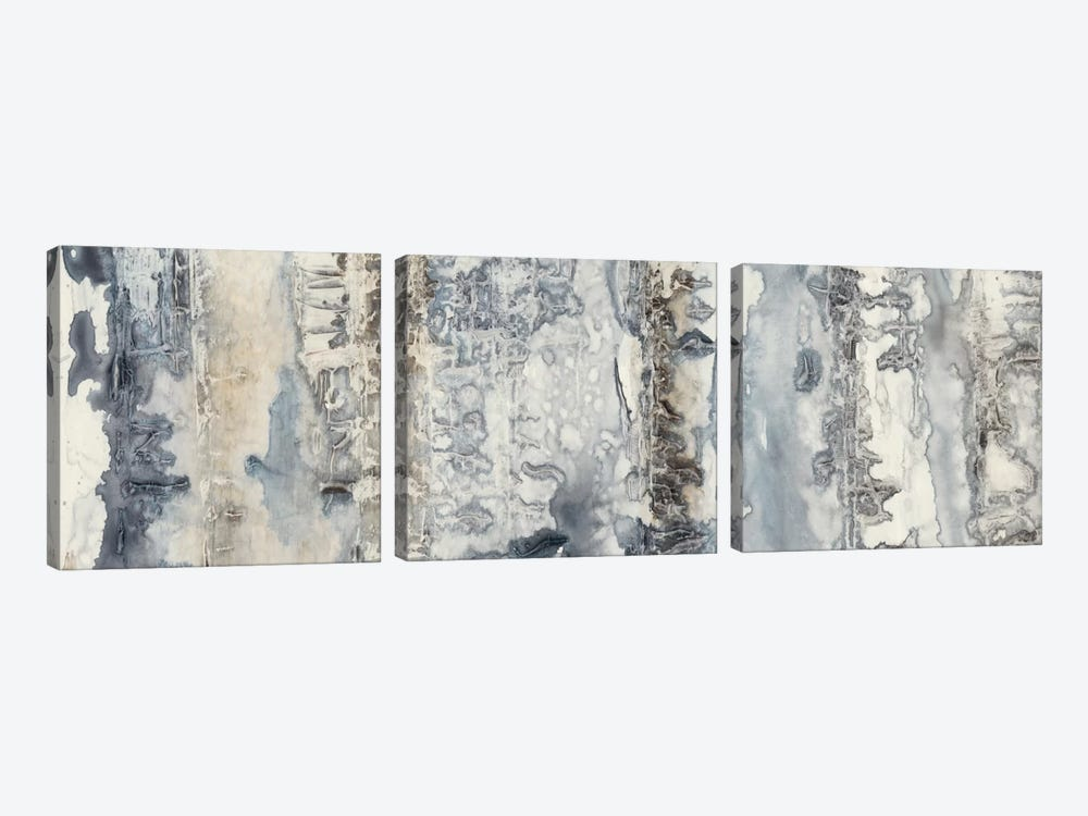 Neutral Strata I by Jennifer Goldberger 3-piece Canvas Art