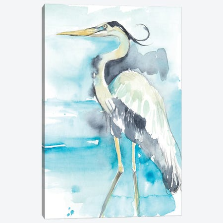 Heron Splash II Canvas Print #JGO760} by Jennifer Goldberger Canvas Artwork