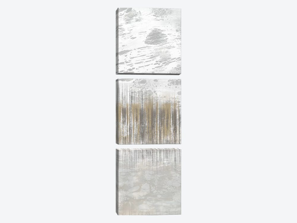 Neutral Staggered Lines I by Jennifer Goldberger 3-piece Art Print