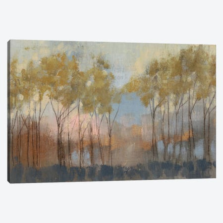Ochre Treeline II Canvas Print #JGO77} by Jennifer Goldberger Canvas Wall Art