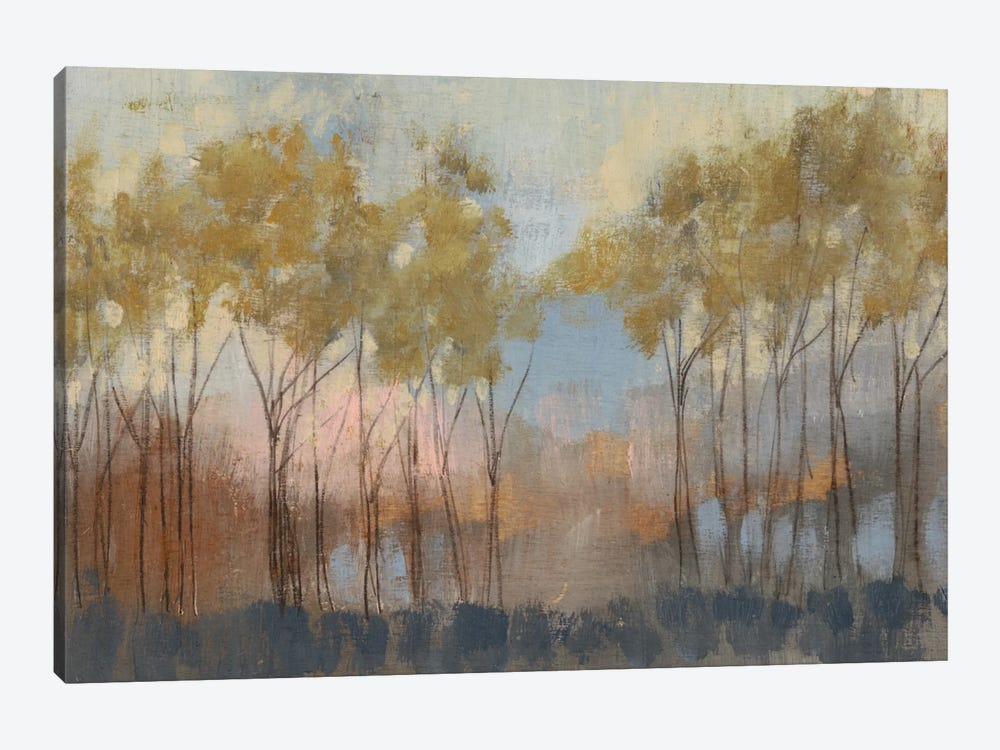 Ochre Treeline II by Jennifer Goldberger 1-piece Canvas Print
