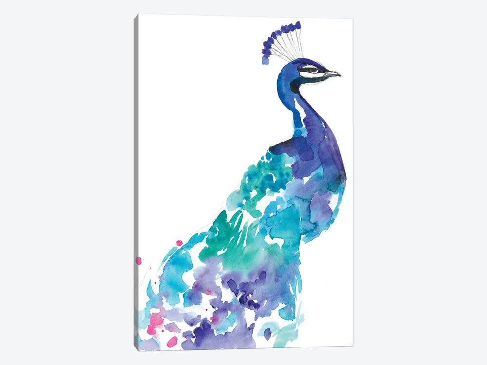 Peacock Splash I by Jennifer Goldberger 1-piece Canvas Artwork