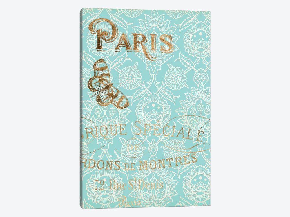 Paris In Gold I 1-piece Canvas Wall Art