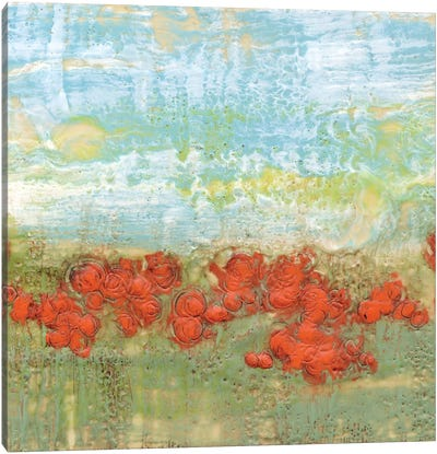 Coral Poppies II Canvas Print #JGO7