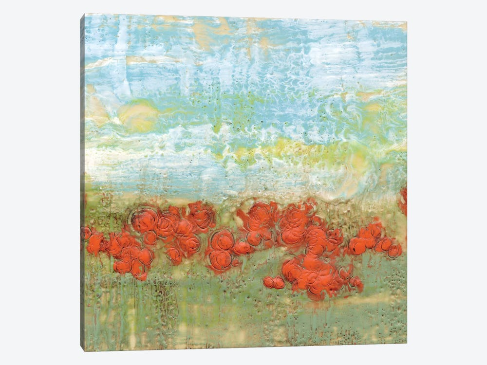 Coral Poppies II by Jennifer Goldberger 1-piece Canvas Print