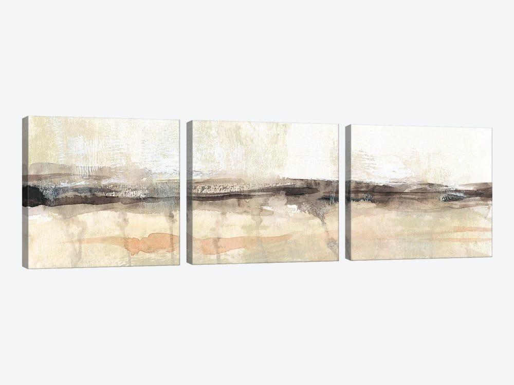 Umber Horizon II by Jennifer Goldberger 3-piece Canvas Art Print