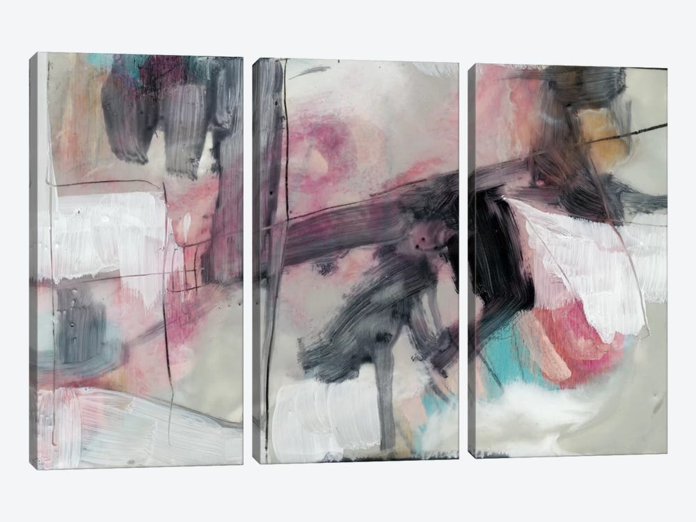 Pastel Kinesis II by Jennifer Goldberger 3-piece Canvas Wall Art