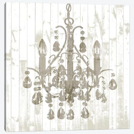 Shiplap Chandelier I Canvas Print #JGO833} by Jennifer Goldberger Canvas Wall Art