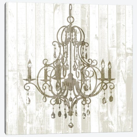 Shiplap Chandelier II Canvas Print #JGO834} by Jennifer Goldberger Canvas Print
