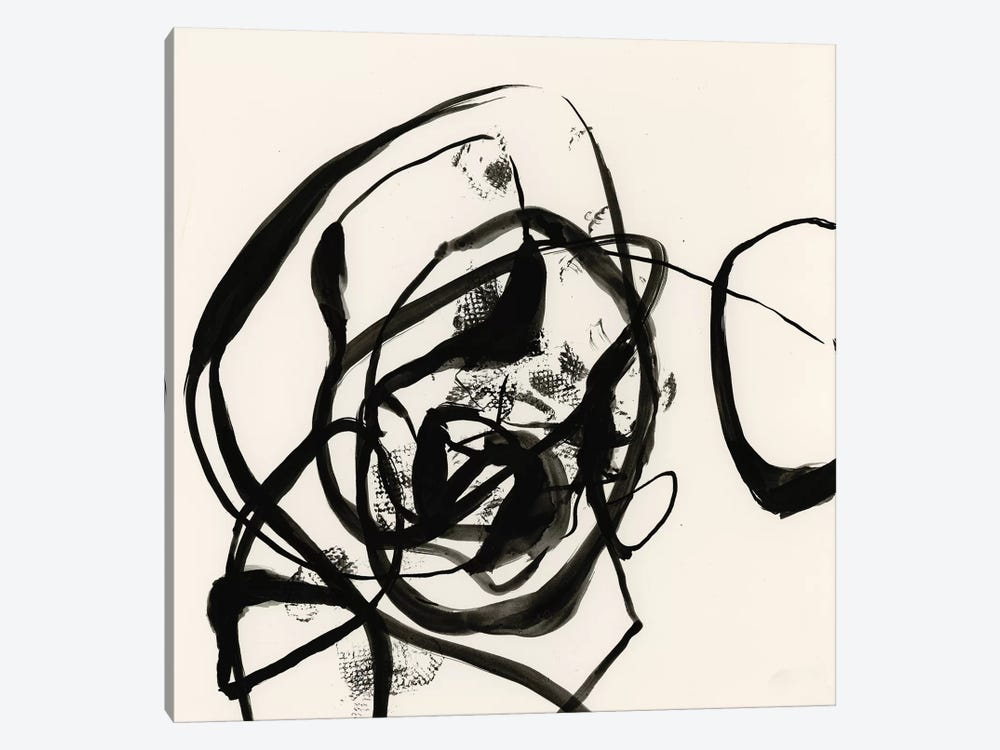 Sumi-E Abstract II by Jennifer Goldberger 1-piece Canvas Wall Art