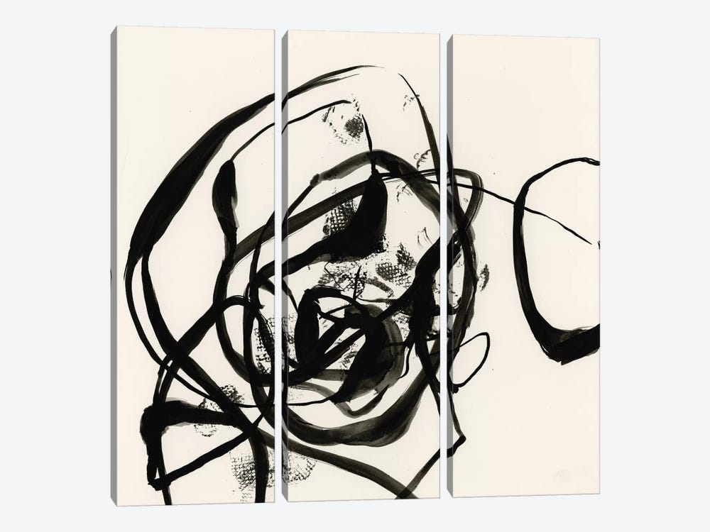 Sumi-E Abstract II by Jennifer Goldberger 3-piece Canvas Artwork