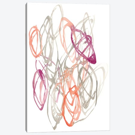 Connected Orbits I Canvas Print #JGO841} by Jennifer Goldberger Canvas Art Print