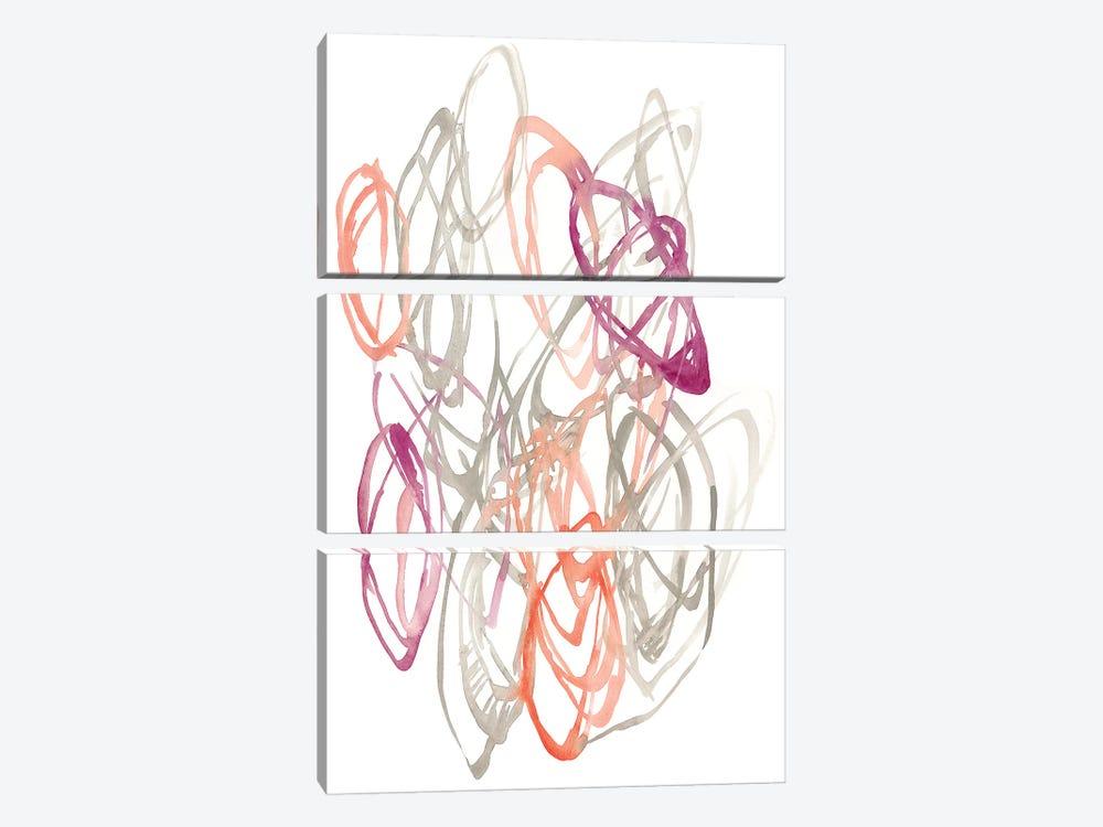 Connected Orbits I by Jennifer Goldberger 3-piece Canvas Art