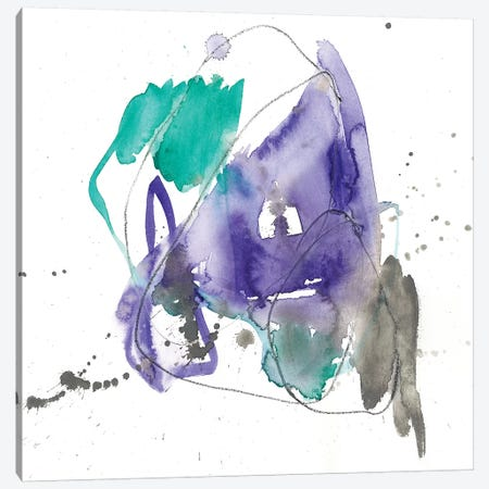 Emerald & Ultraviolet I Canvas Print #JGO851} by Jennifer Goldberger Canvas Wall Art