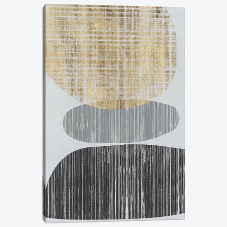Gilded Shapes I Canvas Print #JGO857} by Jennifer Goldberger Canvas Art Print