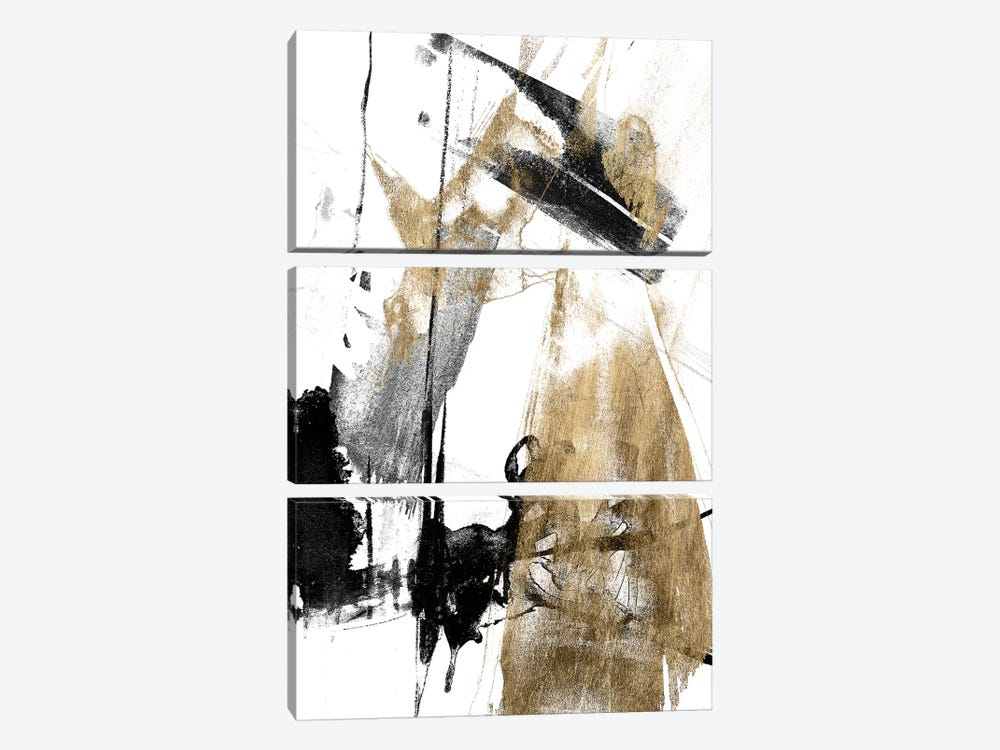 Glam & Black II by Jennifer Goldberger 3-piece Canvas Art Print