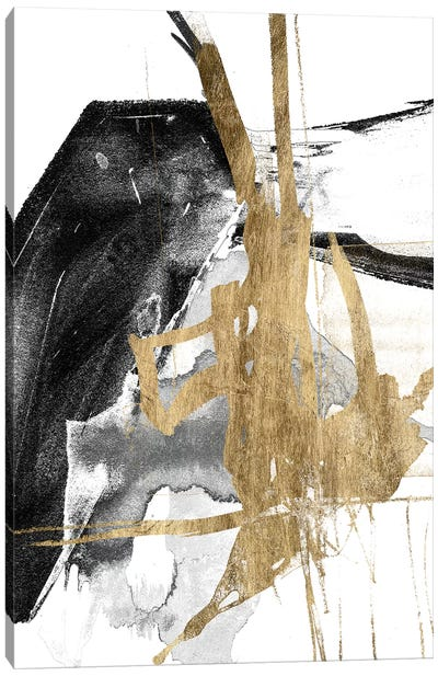 Glam & Black V Canvas Art Print