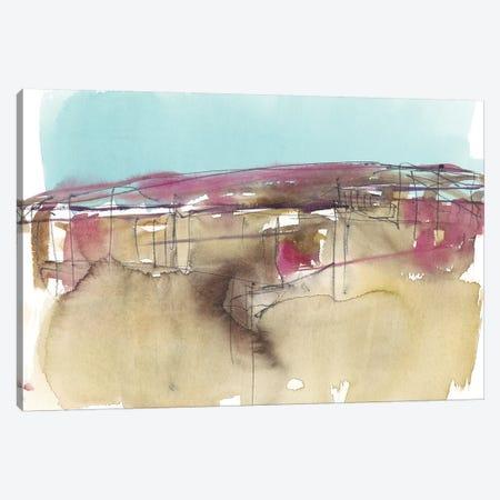 Horizon Schematic I Canvas Print #JGO865} by Jennifer Goldberger Canvas Artwork