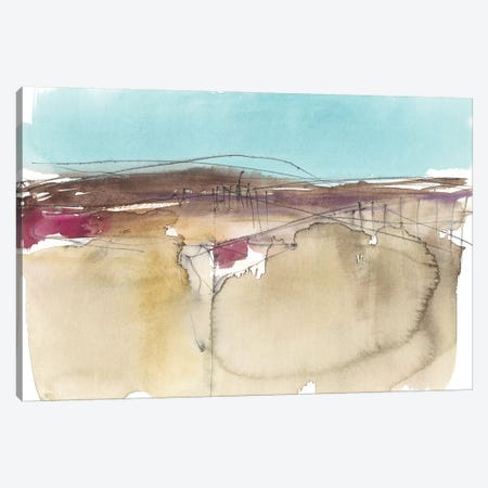 Horizon Schematic II Canvas Print #JGO866} by Jennifer Goldberger Canvas Wall Art