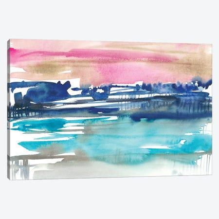 Indigo Sunset I Canvas Print #JGO867} by Jennifer Goldberger Canvas Art