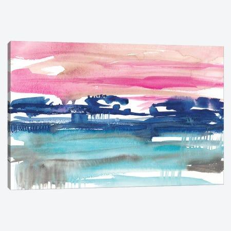 Indigo Sunset II Canvas Print #JGO868} by Jennifer Goldberger Canvas Art Print