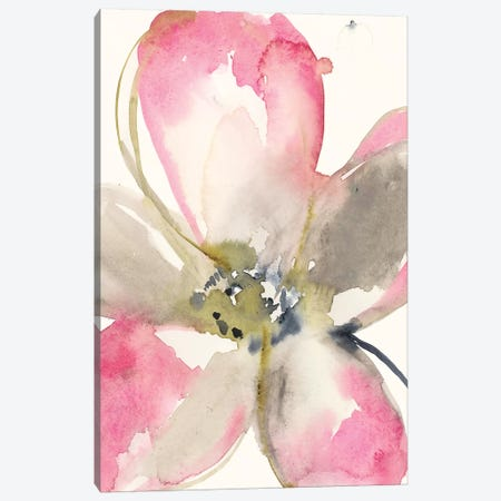 Magenta Petals I Canvas Print #JGO871} by Jennifer Goldberger Canvas Art