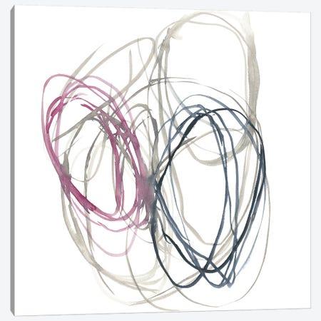 Magenta Rounds I Canvas Print #JGO873} by Jennifer Goldberger Canvas Wall Art