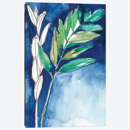 Petiole on Indigo I Canvas Print #JGO880} by Jennifer Goldberger Canvas Print