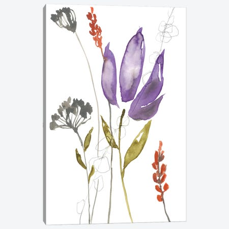 Ultraviolet Bouquet I Canvas Print #JGO896} by Jennifer Goldberger Canvas Art Print
