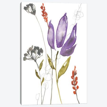 Ultraviolet Bouquet I Canvas Print #JGO896} by Jennifer Goldberger Canvas Art Print