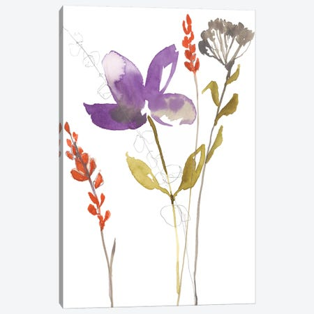 Ultraviolet Bouquet II Canvas Print #JGO897} by Jennifer Goldberger Canvas Art Print