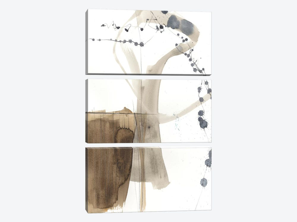 Umber Connection I by Jennifer Goldberger 3-piece Canvas Art