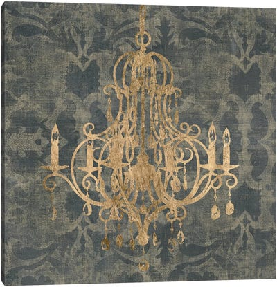 Gilt Chandelier IV Canvas Art Print