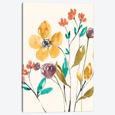 Whimsy Flowers I Canvas Print #JGO902} by Jennifer Goldberger Canvas Artwork