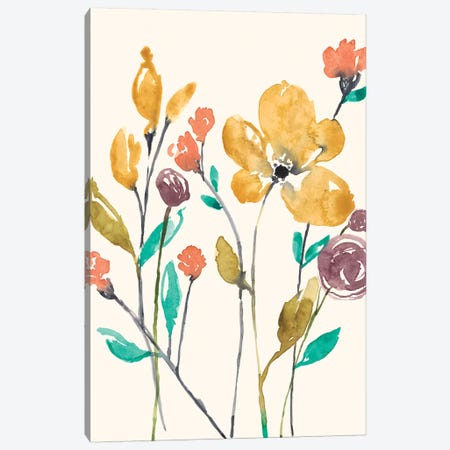Whimsy Flowers II Canvas Print #JGO903} by Jennifer Goldberger Canvas Wall Art