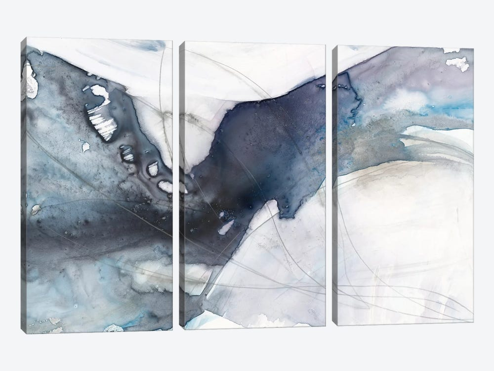 Agate Wave I by Jennifer Goldberger 3-piece Canvas Wall Art
