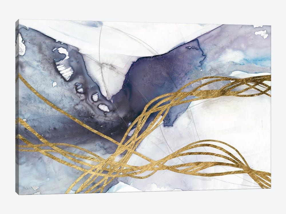 Agate Wave IV by Jennifer Goldberger 1-piece Canvas Print