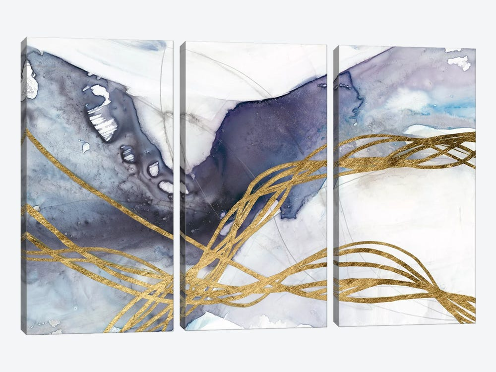 Agate Wave IV by Jennifer Goldberger 3-piece Art Print