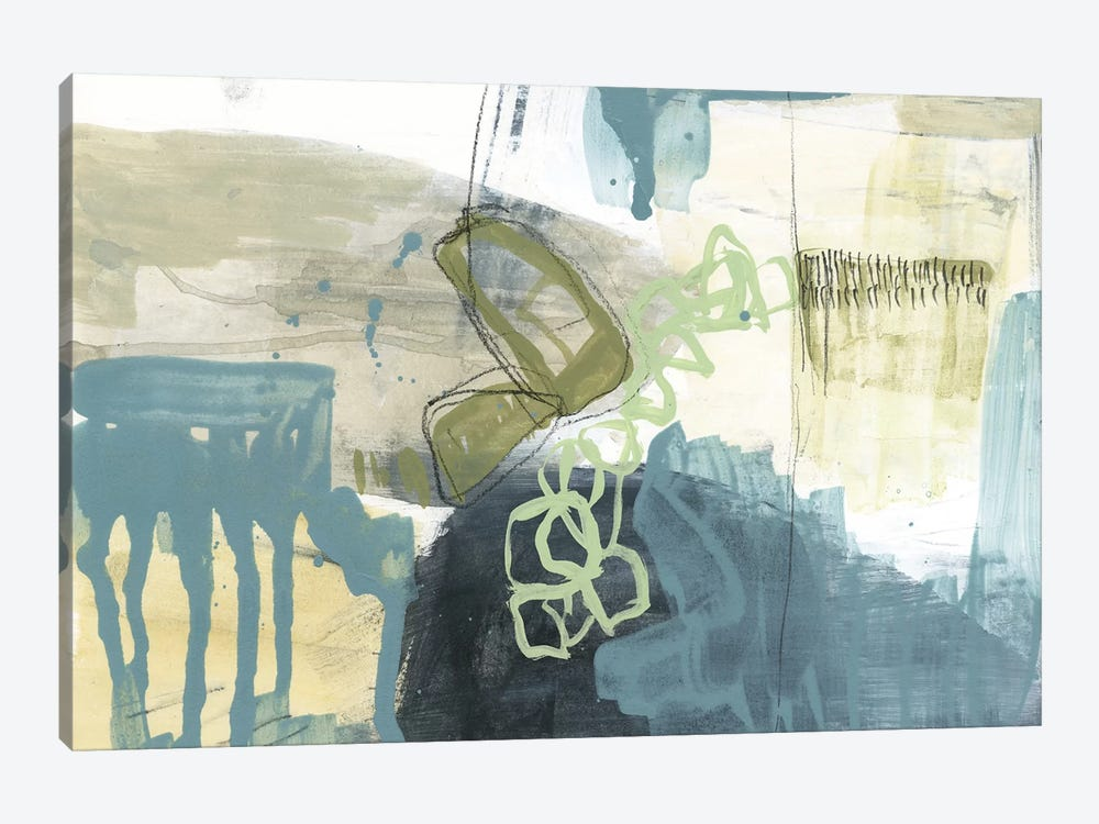 Blue Exploration I by Jennifer Goldberger 1-piece Canvas Artwork