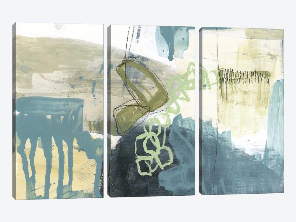Blue Exploration I by Jennifer Goldberger 3-piece Canvas Art