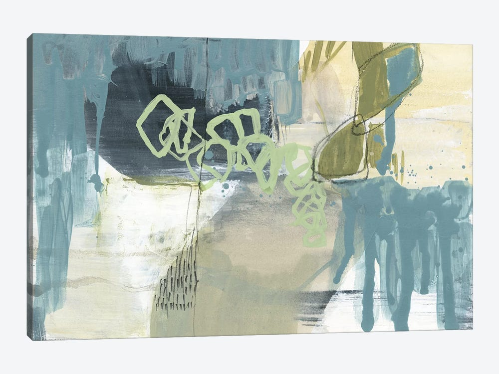 Blue Exploration II by Jennifer Goldberger 1-piece Canvas Print